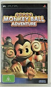 SUPER MONKEY BALL ADVENTURE Sony PSP Playstation Portable no booklet