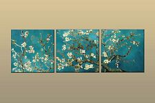 Van Gogh Branches with Almond Blossom HD Print Oil Painting Art on canvas 3P W43