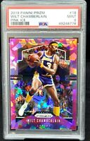 2019 Prizm Pink Ice REFRACTOR Lakers WILT CHAMBERLAIN Card PSA 9 Total Pop 8