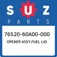 76520-60A00-000 Suzuki Opener assy,fuel lid 7652060A00000, New Genuine OEM Part