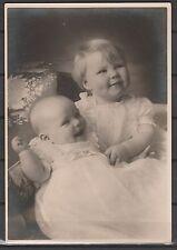 xxx NEDERLAND FOTO-BRIEFKAARTEN Gzd.261, Prinsessen Beatrix en Irene 1940. Lees!