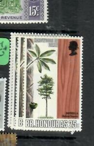 BRITISH HONDURAS (P1603B) QEII  TREES   SG 291-4   MNH