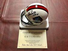 Andre Reed AUTO HOF mini helmet w/COA