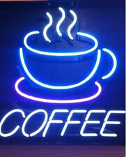 """New Coffee Shop Cafe Open Beer Bar Neon Sign 17""""x14"""" Ship From USA"""