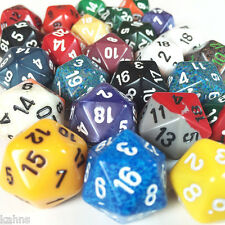 Chessex d20 Dice - 1/4 (quarter) pound assorted 20 sided dice - Twenty sided -