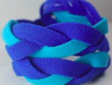 Light Blue Royal Braided Hair Band Head Under Sweaty Headband Armour Non Slip
