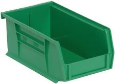 "QUS220 Quantum Plastic Storage Stacking Bin 7"" x 4"" x 3"" Green Carton of 24"