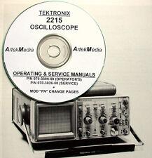 Tek Tektronix 2215 Oscilloscope Operating & Service Manuals 2-vol