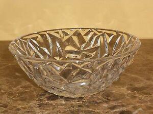 """Tiffany Rock Cut Crystal Bowl- 6"""""""