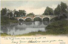 Vintage Handcolored Rotograph Pc; Old Coalico Bridge, Ephrata Pa, Lithographed