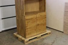 Schrank Aktenschrank Eiche Masiv Holz Büroschrank Regal Bücherregal NEU