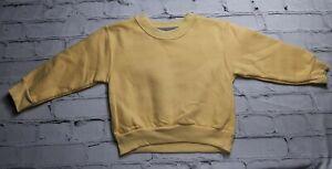 Little King 2T Unisex Baby Yellow Long Sleeve Casual Soft Top Sweatshirt