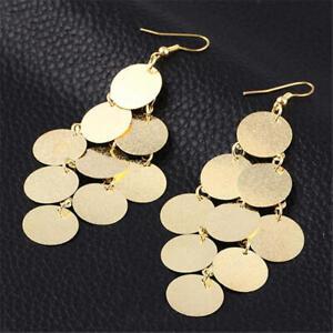 Bohemia Sequin Tassel Earrings Long Shine Drop Earrings For Women Punk Jewelry
