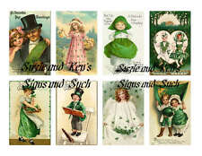 Vintage St Patrick's Day Reproduction Stickers Ireland Shamrock Green 16