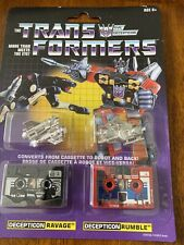 Transformers Vintage G1 Cassette Pack Decepticons Ravage Rumble Walmart Reissue