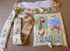 Little Bedding NoJo 3 Piece Crib Set Bumper Bed Skirt Comforter Safari Jungle