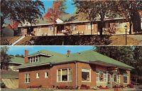Winchester Virginia VA 1960s Postcard Green Lantern Motel Restaurant Gift Shop