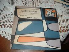 """MARIO ABBATE """" STANOTTE NUN DURMI' """" UN DISCO PER L'ESTATE'64  ITALY'64"""