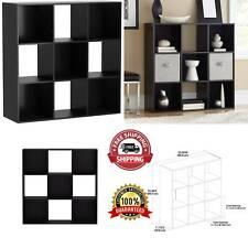New 9 Compartment Wood Storage Organizer Black Storage Organizer Book Shelves