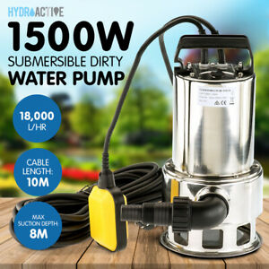 Heavy Duty Submersible Dirty Water Sump Pump Grey Water Sewage Sullage Electric