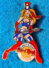 MADRID SPAIN SEXY 4TH JULY 2005 BLONDE GIRL GUITAR SERIES Hard Rock Cafe PIN LE