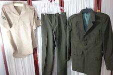 USMC Uniform- 38S- Jacket,Pants,Shirt- VG- VIETNAM ERA - SALE