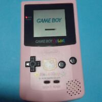 Nintendo Game boy Color Hello Kitty Limited Edition Boxed Pink Used JAPAN F/S