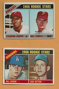 1966 Topps Hall of Fame Rookie Hall of Fame Lot: Ferguson Jenkins and Don Sutton