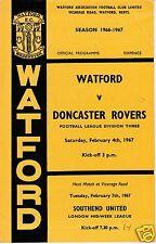 WATFORD  V DONCASTER ROVERS   3RD DIVISION   4/2/67