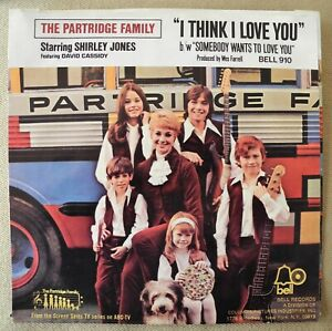 The PARTRIDGE FAMILY - I Think I Love You Nr MINT hit pop rock '70 Bell 45 & PS
