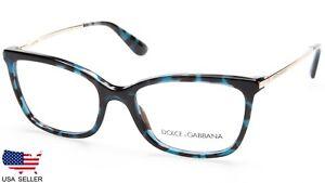 NEW D&G Dolce&Gabbana DG 3243 2887 PETROLEUM BLUE EYEGLASSES 54-17-140 B38 Italy