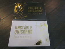 Unstable Unicorns Kickstarter Exclusive Chaos + Control Set Deck Card Game