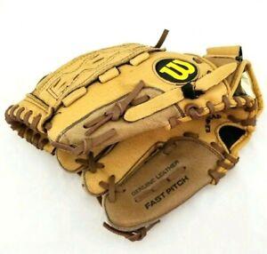 "Wilson A440 Fast Pitch Leather Softball Glove Mitt 11"" Left Hand Throw Brown Tan"
