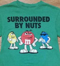 """M&M's t-shirt (Small) Green Color / Says """"Surrounded By Nuts"""""""