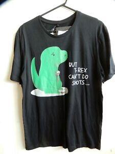 Threadless T- Shirt But T-Rex Can't Do Shots M