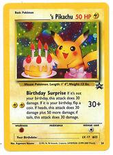 Birthday Pikachu Pokemon Black Star promo # 24 holo foil