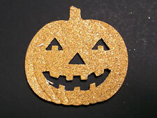 10 Glittery Jack o'Lantern Punch-outs Acid free Card Stock New