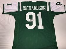 d986b1f4f SHELDON RICHARDSON autographed signed Jets custom green Jersey MAB cert  seahawks