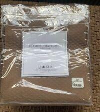 "Restoration Hardware Diamond Matelasse Shower Curtain 72""X72""  Lt Brown"
