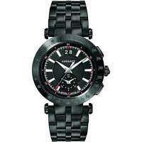 Versace Men's Watch V-Race Chronograph Black Dial Bracelet VAH040016
