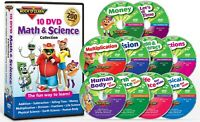 10 DVD Math & Science Collection (New) by Rock 'N Learn