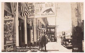 NEVADA - Spanish Joe Cowboy, Virginia City - Real Photo Postcard
