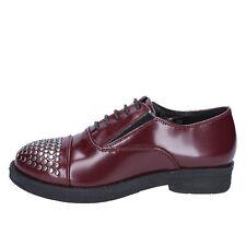 scarpe donna FRANCESCO MILANO 35 classiche bordeaux pelle borchie BX326-35