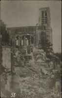 Epernay France WWI Bombed Church Real Photo Postcard