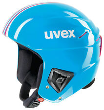 NEW UVEX RACE + PLUS SKI SNOWBOARD RACING HELMET CYAN/PINK 56-57 CM FIS APPROVED
