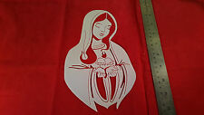 ADULT T SHIRT AIRBRUSH THE VIRGIN MARY STENCIL FAST FREE SHIPPPING!