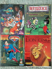 LION KING - SPACEJAM- BEETLEJUICE - SUPERMAN - (4) STICKER BOOKS !! LQQK !!