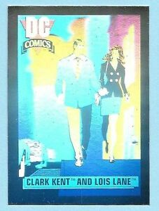 DC Cosmic Cards 1991 -  Hologram # DCH1 (Clark Kent and Lois Lane)
