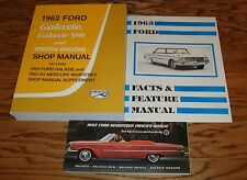 1963 Ford Galaxie Car Shop Service Manual Owners Sales Brochure 5 Piece Lot 63
