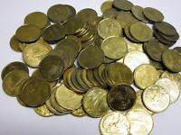 100 Circulated Gold Toned Guardian Angel Pocket Tokens